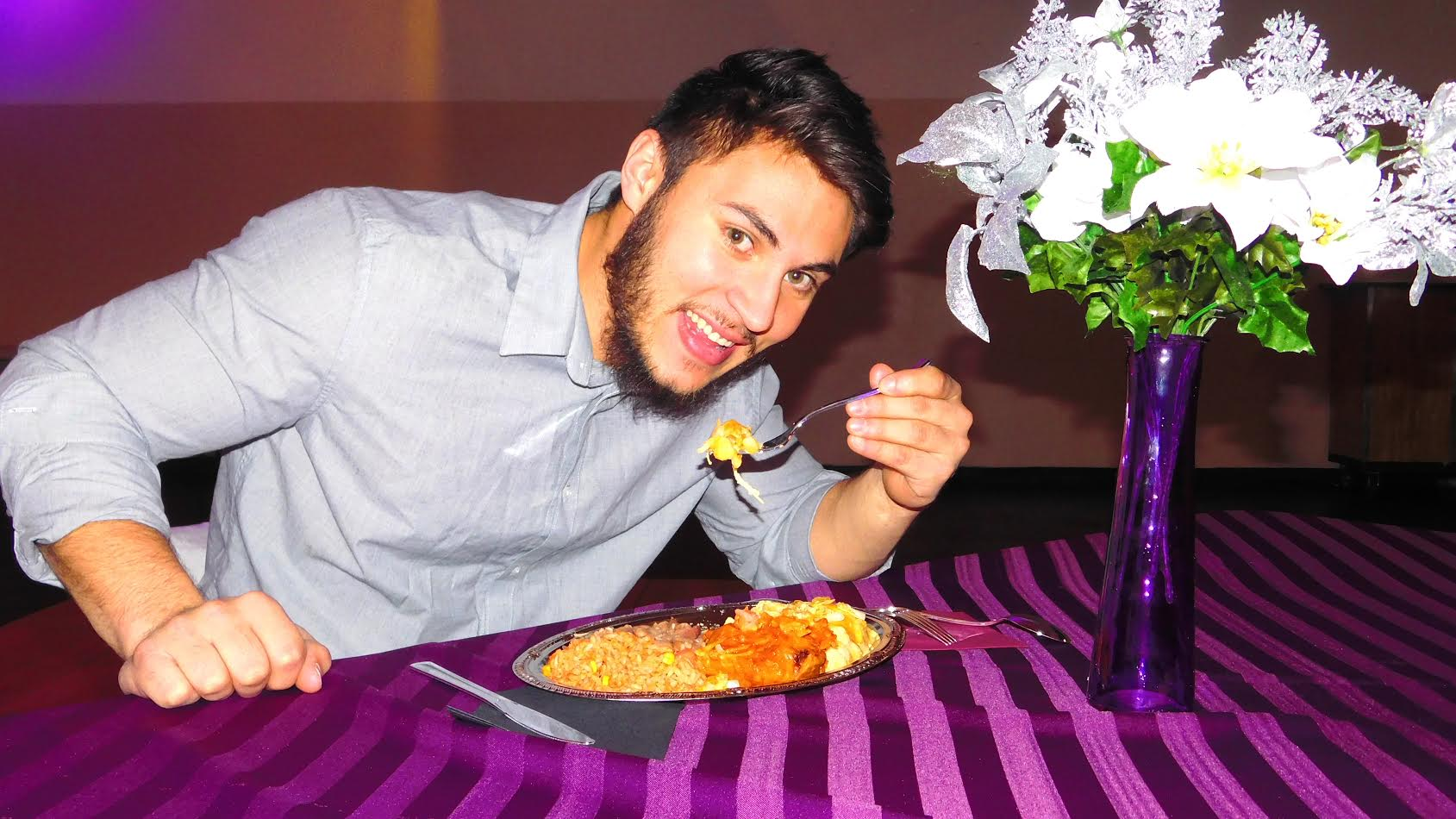 This is Anthony. Anthony loves our enchiladas. Be like Anthony. Call for your FREE tasting now.