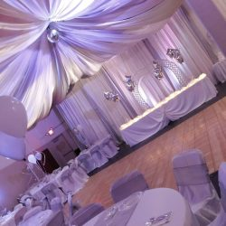 Stunning Wedding Reception Decor at Indoor Wedding Venue ABQPartySpace in Albuquerque