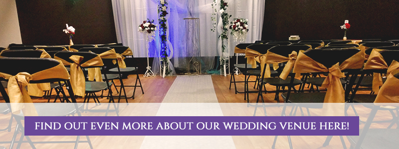 Find out more about our wedding party venue