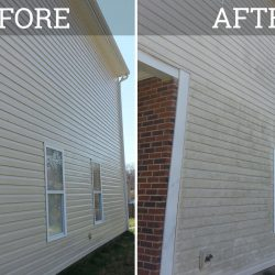 house siding that has been pressure washed