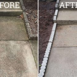 sidewalk pressure washing before and after