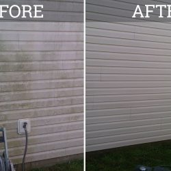 vinyl siding power washing before and after