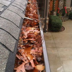 gutter before being pressure washed