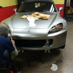 Inspecting a car with paint protection