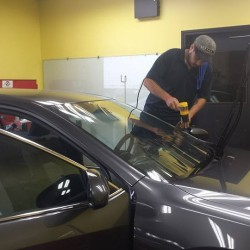 Completing the finishing window tinting process