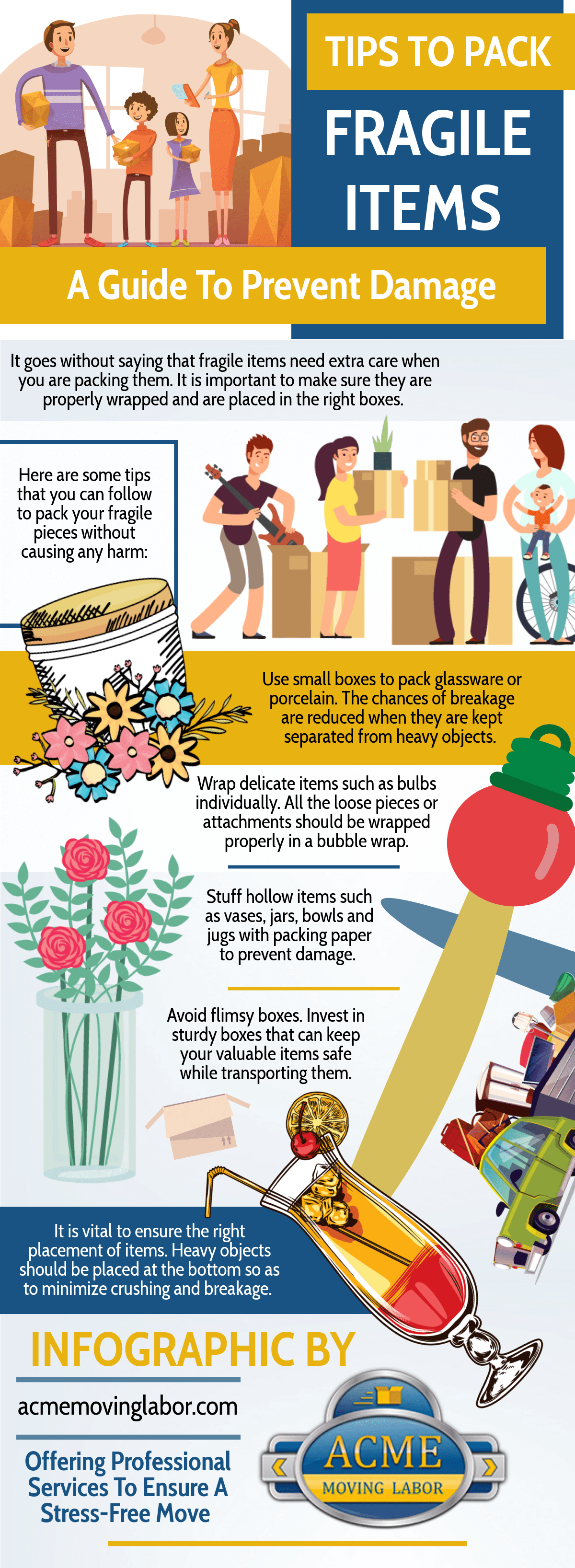 tips to carry fragile items