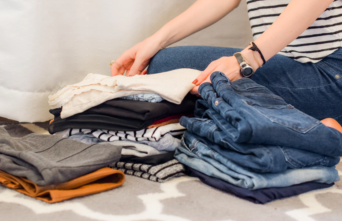 folding and packing clothes