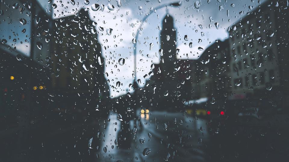 rain drops on windscreen