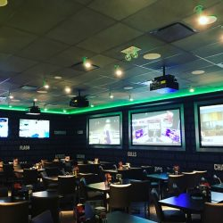 Lighting Installation at a Sports Bar | AC Professional Electric