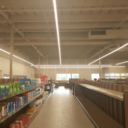 Lighting Installation in a Supermarket | AC Professional Electric