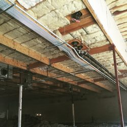 Commercial Ceiling Power Line Installation | AC Professional Electric