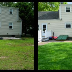 Lawn Before and After Walpole