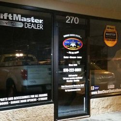 Commercial storefront with window decals - Action Signs