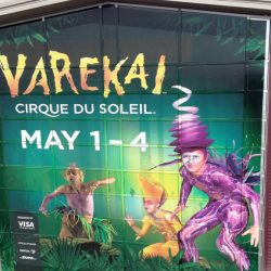 Large exterior wall with graphic for upcoming Cirque Du Soleil event - Action Signs