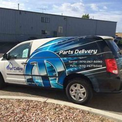Custom vehicle wrap on delivery van - Action Signs