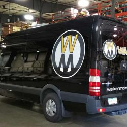 Business logo printed on a Sprinter van - Action Signs