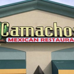 Exterior business sign for Camachos Mexican Restaurant - Action Signs