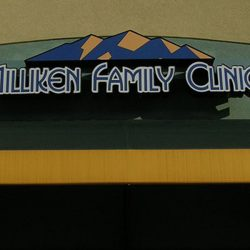 Exterior business sign for Milliken Family Clinic - Action Signs