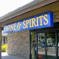 Outdoor lighted business sign for MoonDance Wine & Sprits - Action Signs