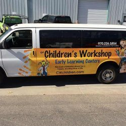 Vehicle wrap for The Children's Workshop - Action Signs