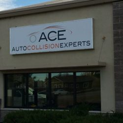 Business sign for ACE Auto Collision Experts - Action Signs