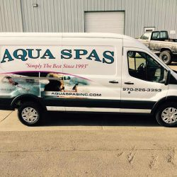 Custom vehicle wrap for Aqua Spas - Action Signs