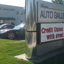 Outdoor lighted sign for Weston Auto Gallery - Action Signs