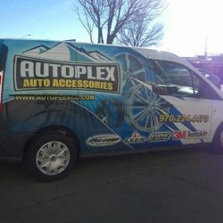 Vehicle wrap with business logo and information - Action Signs