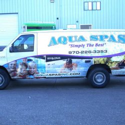 Commercial van with a vehicle wrap design - Action Signs