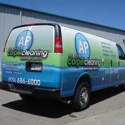 Vehicle wrap for a carpet cleaning company - Action Signs