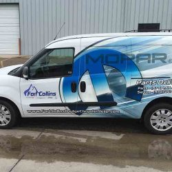 Commercial van with vehicle wrap with business logo and contact information - Action Signs