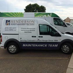 Van with vehicle wrap and company logo - Action Signs