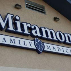 Business exterior sign for Miramont Family Medicine - Action Signs