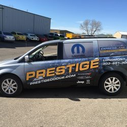 Van with professional vehicle wrap design - Action Signs