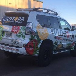 Business van with vehicle wrap design - Action Signs