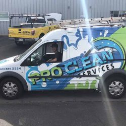 Commercial van with custom business detail - Action Signs