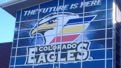 Large exterior wall with Colorado Eagles graphic - Action Signs