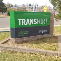 Outdoor business lawn sign for Transfort - Action Signs