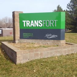 Outdoor lawn sign for Transfort - Action Signs