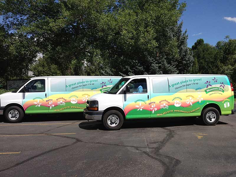 2 Vans wrapped