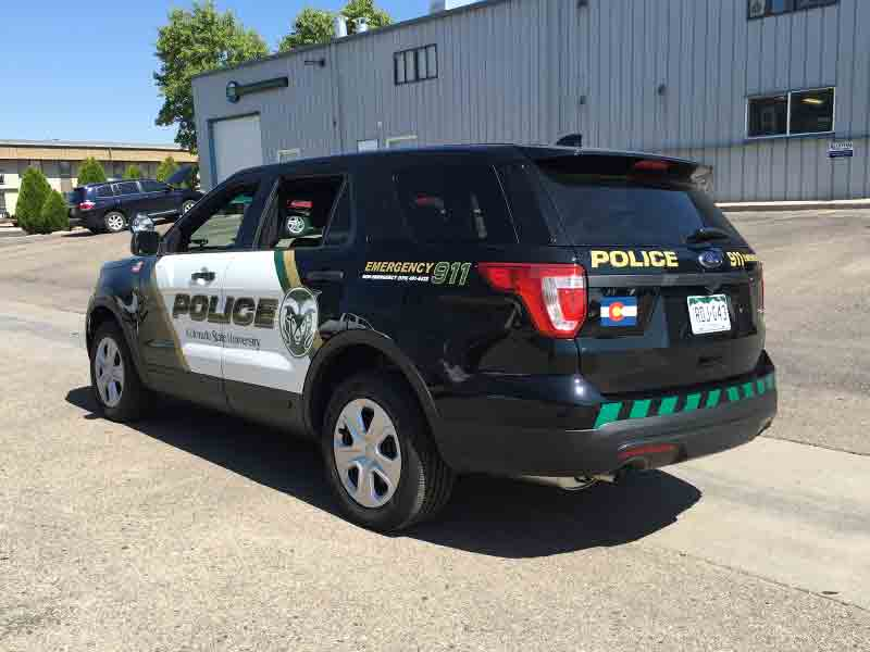 SUV Wrapped Police Car