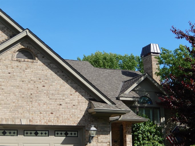 A residential roof in Addison, IL.