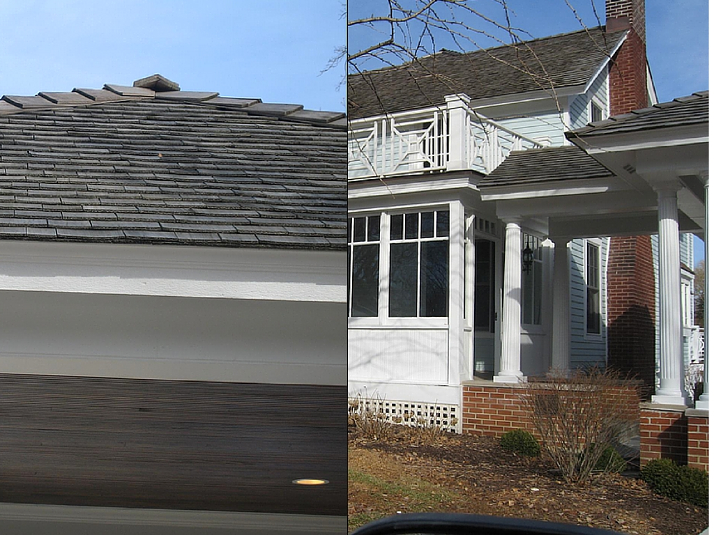 Work done on a roof in Downers Grove, IL.