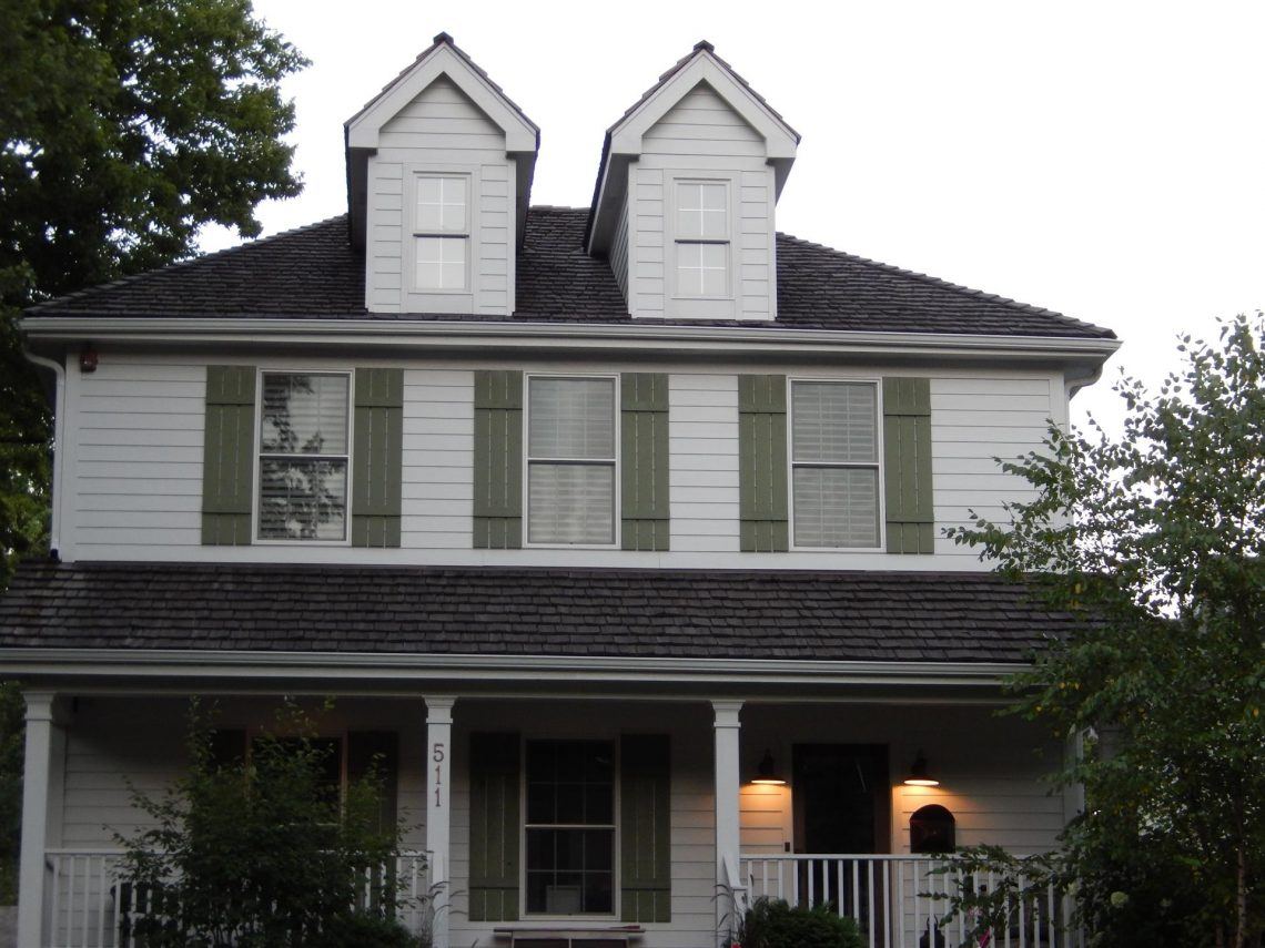 A two-story home in Oak Brook, IL