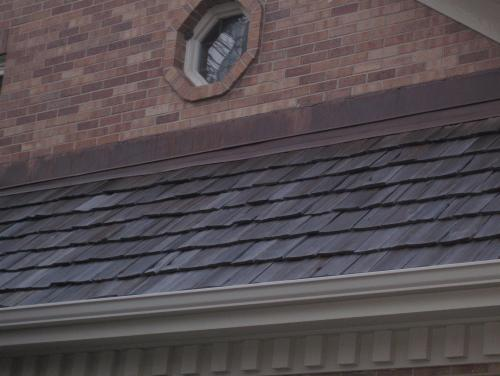 A roof repair done on a home in Naperville