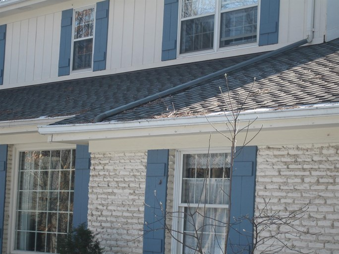 A close up shot of some roof repairs we made.
