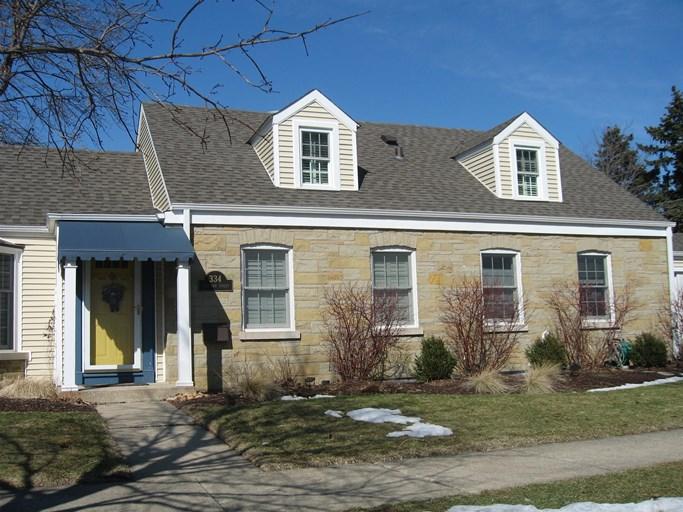 A shingle roof home in la grange park, IL.