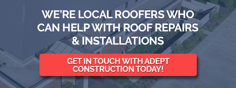 Roofing graphic for roof installations and repairs.