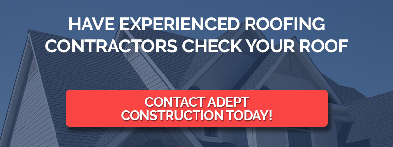 A diagram that lets you know you can have experienced roofing contractors check your roof for hail dent repairs.