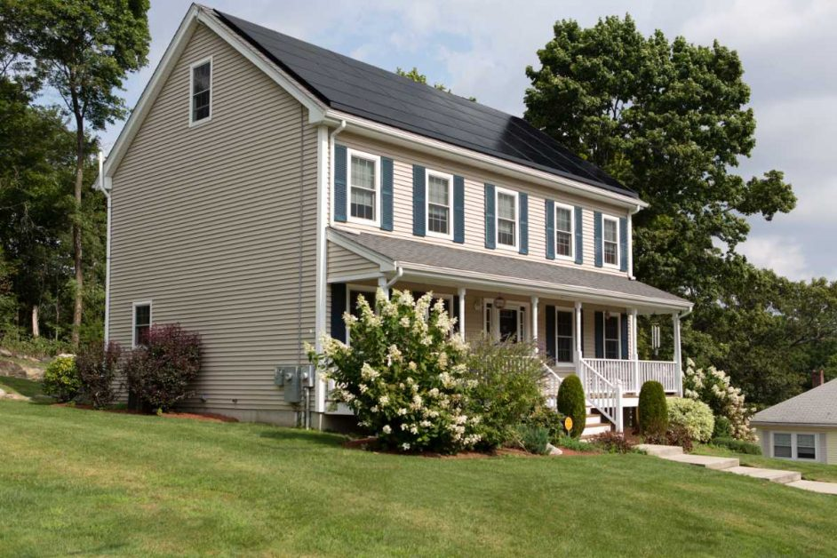 Home with beautiful vinyl siding.